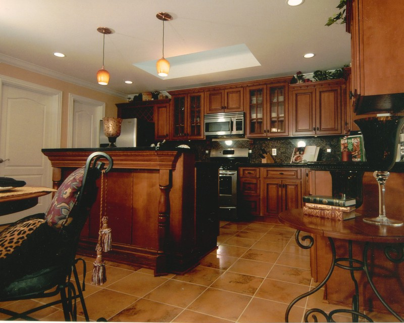 Kitchen Backsplash with Dark Cabinets