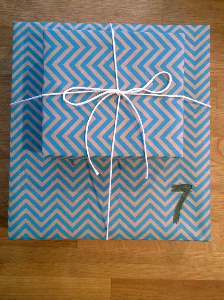 The Dollar Tree chevron kraft wrapping paper