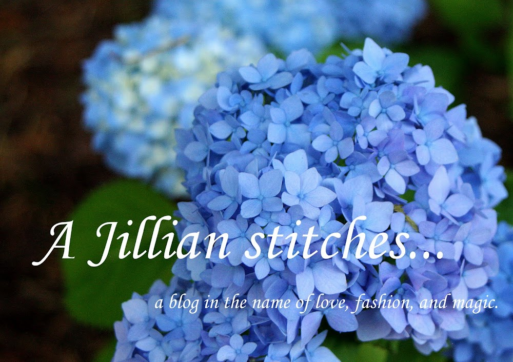 A Jillian stitches...