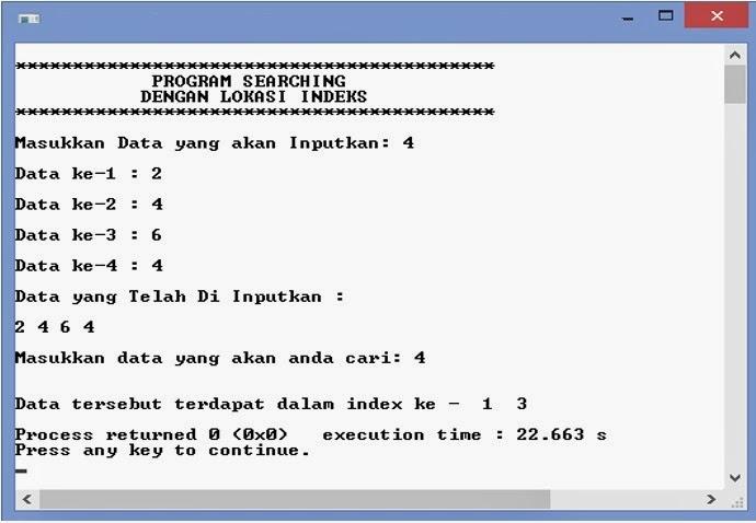 Program Mencari Data Pada Index Tertentu