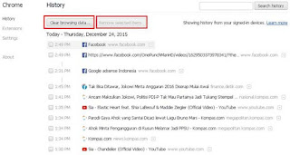 Cara Menghapus History Browser Google Chrome dan Mozilla Firefox