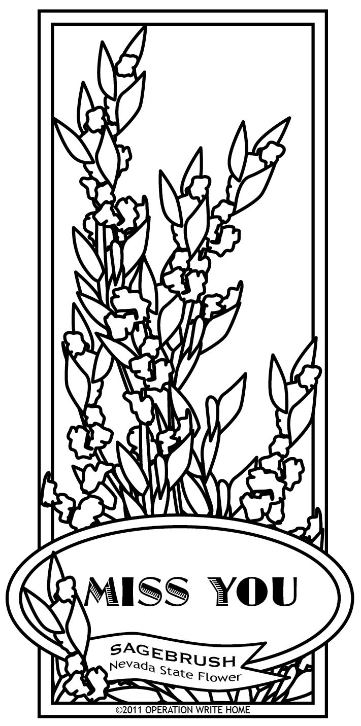 nevada state coloring pages - photo#33