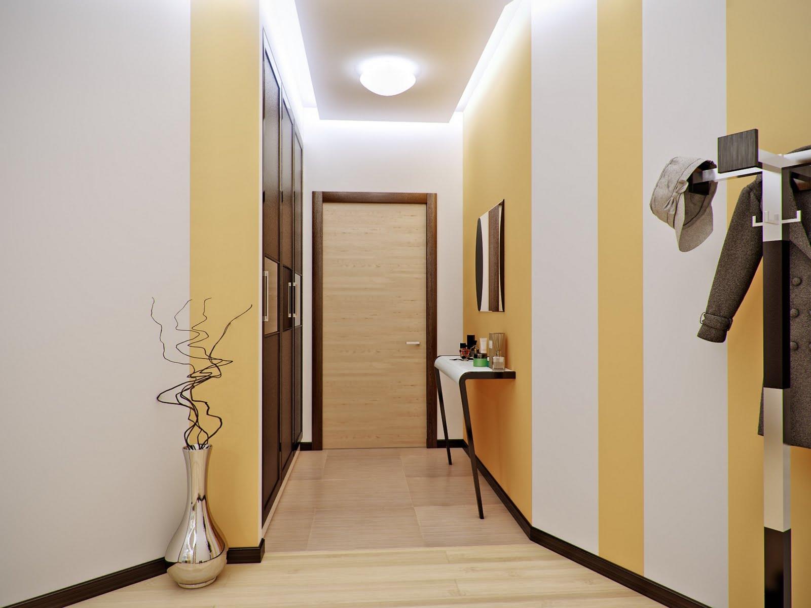 Отделка стен в коридоре фото