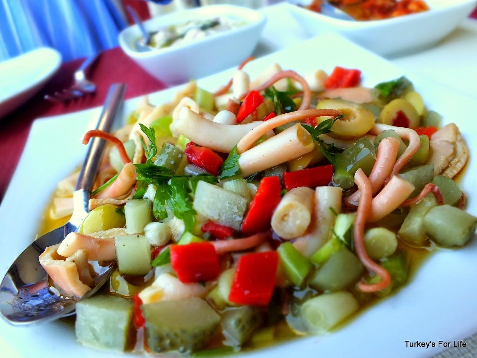 Octopus Salad, Captain's Pearl Restaurant, Fethiye