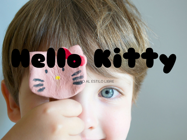 hello-kitty-barro-al estilo-libre-clay-handmade-niños-kids-decora-maceteros-flowerpot