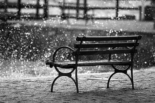 Paisaje lloviendo
