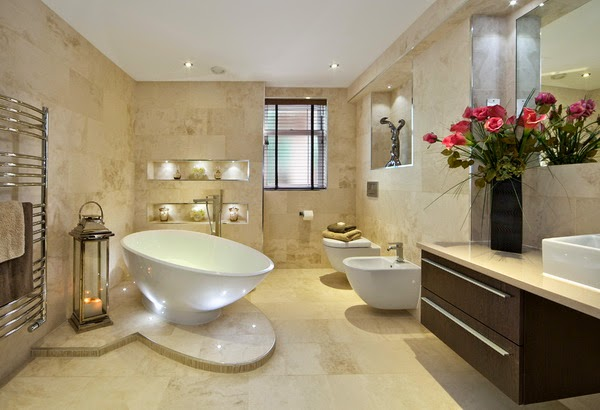 Modern Stones Bathroom Floor Ideas