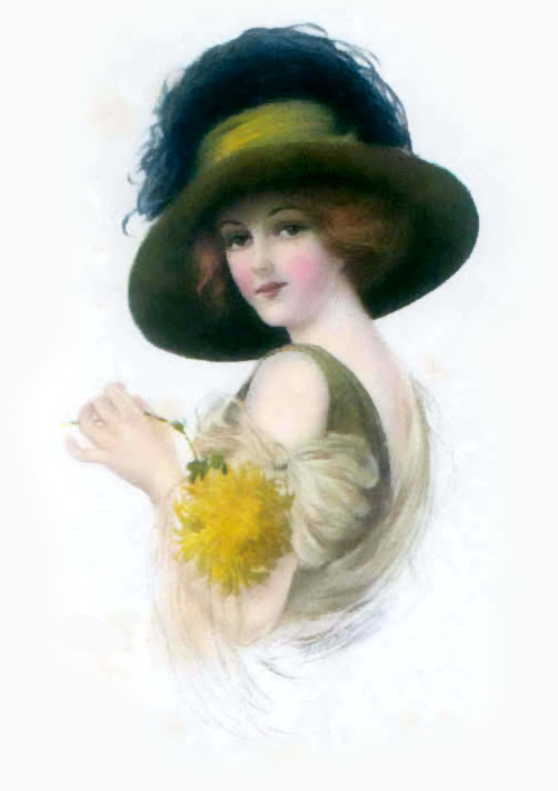 vintage lady clipart - photo #19