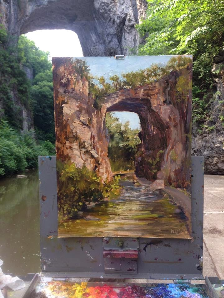 Natural Bridge- Plein Air Oil by Karen Hitt