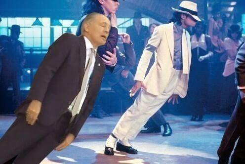 sabella falling over michael jackson