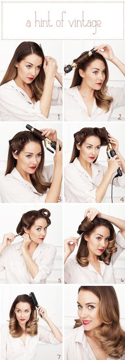 diy vintage curls easy