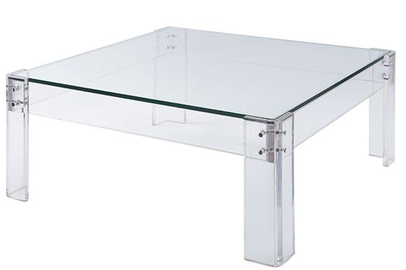 the long and short of it: Lucite Coffee Tables