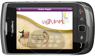 Esta por Acercarse la visita del Papa Benedicto XVI a México, con esta aplicación usted podra tener un mejor seguimiento donde se encuentra: * Comunicaciones Oficiales* Fuente Religiosa* Medios Nacionales* Medios Internacionales* Noticias* Videos* Redes Sociales Compatibilidad BlackBerry OS 5.0 o superior BlackBerry 8350i, 8520, 8530, 9300, 9330, 9360, 9550, 9700, 9780, 9800, 9810, 9900 Descarga APPWORLD
