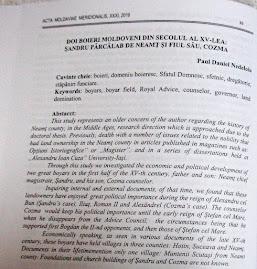 """Facsimil după prima pagină a  studiului din """"Acta Moldaviae Meridionalis""""..."""