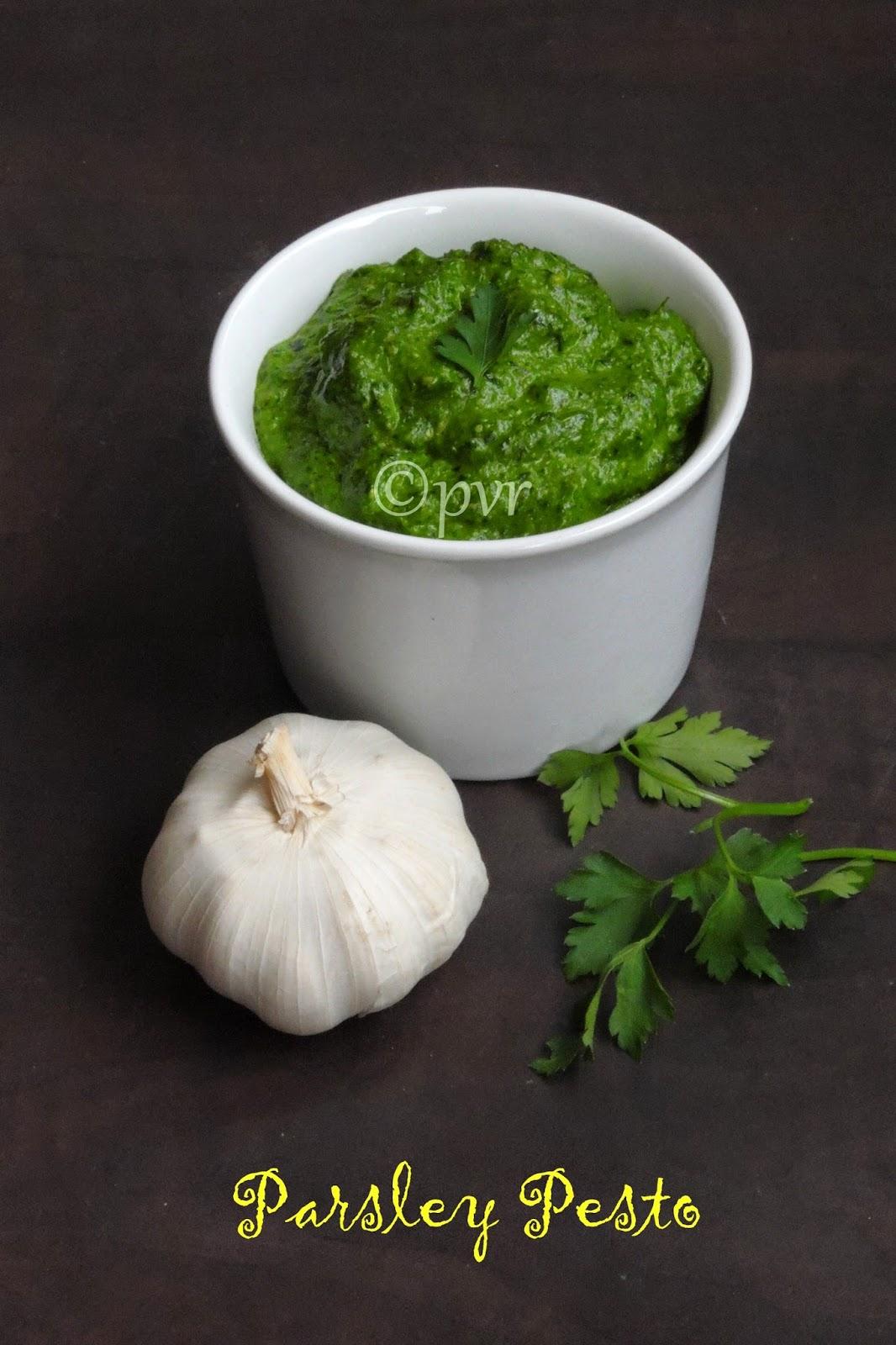 Garlicky parsley pesto