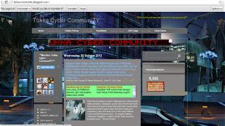 Tukka Cyber Community Dengan Template Blue Velvet Atau Template PEkalongan Community