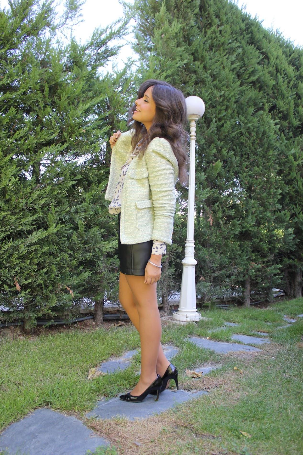 Blog de costura: como hacer el patrón de una falda y coser una falda de cuero DIY