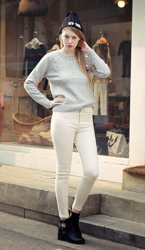 Mirror Jewel Embellished Angora-blend Sweater