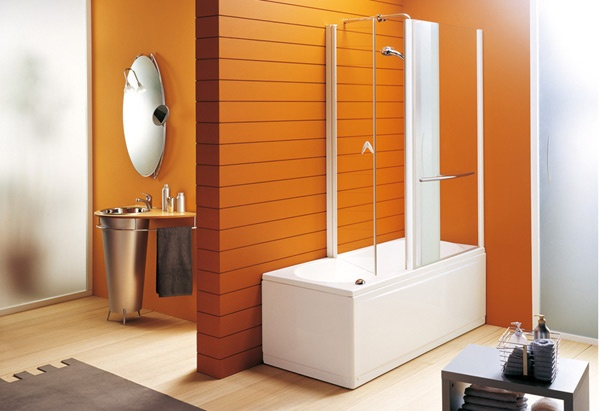 Modern House Orange Bathroom In Modern Designs