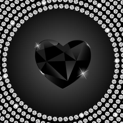 Corazón de diamantes de San Valentín - Vector
