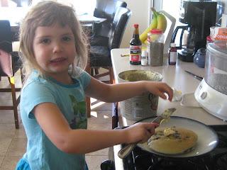 Blueberry Pancake helper
