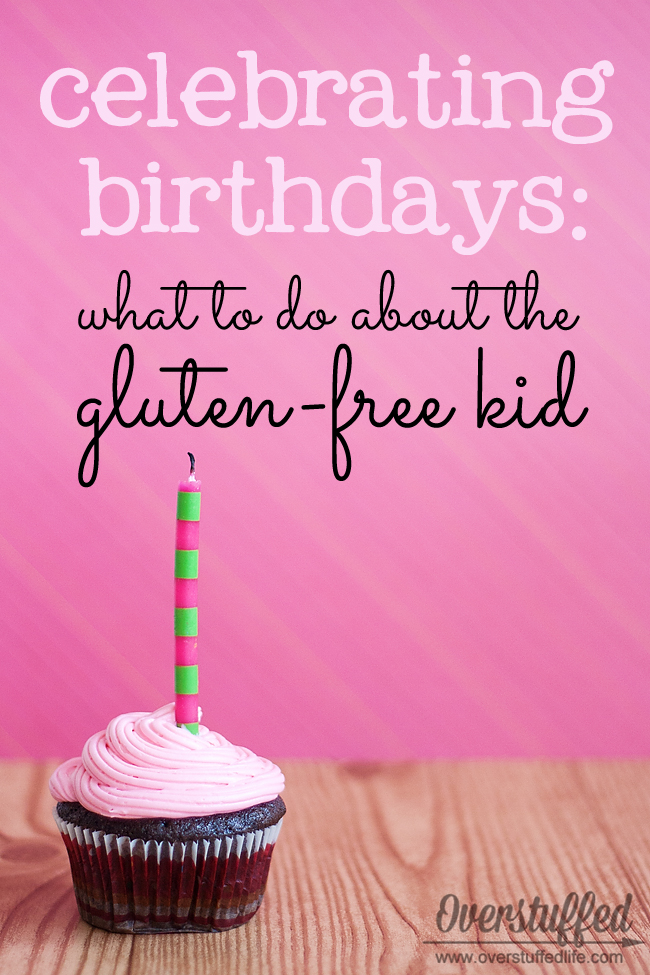 How to accommodate kids with gluten-free diets--or kids with any special diets due to food allergies--at birthday parties and other celebrations.