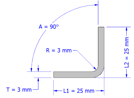 Sheet metal bend allowance calculator metric