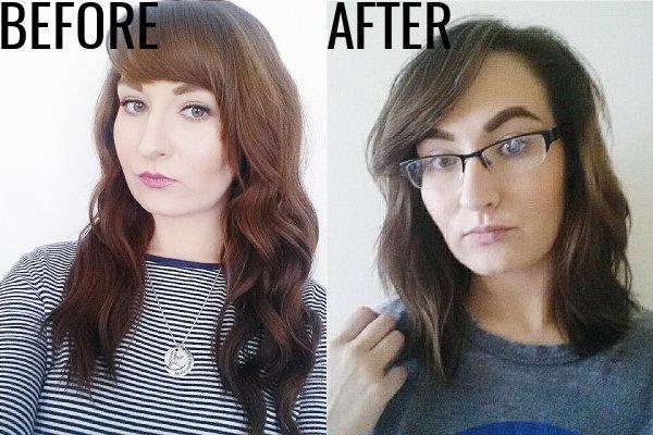 Brunette Wavy Long Bob Haircut