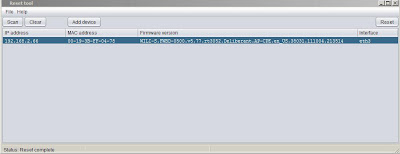 Hasil konfigurasi setelah direset dengan Reset Tool