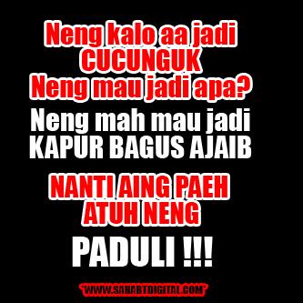 Kata-kata Sunda Gokil Untuk DP BBM