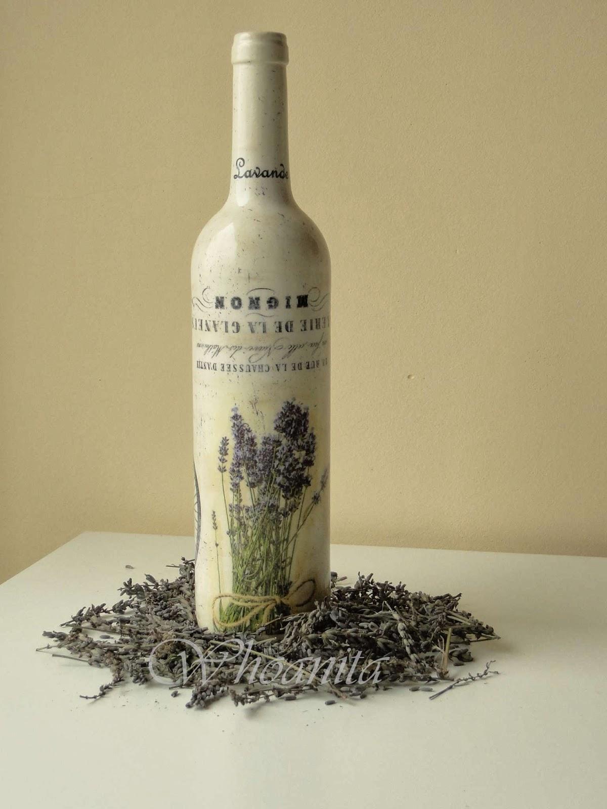 butelka Prowansja decoupage