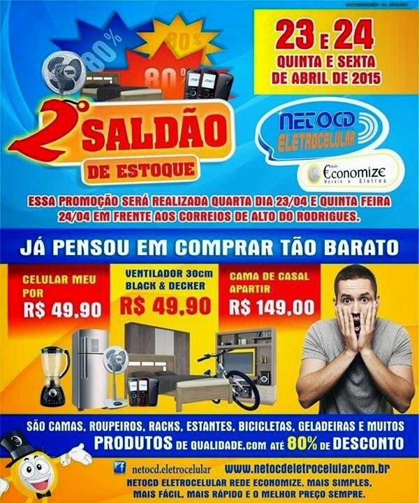 2º SALDÃO DAS LOJAS NETO CD ELETROCELULAR E REDE ECONOMIZE