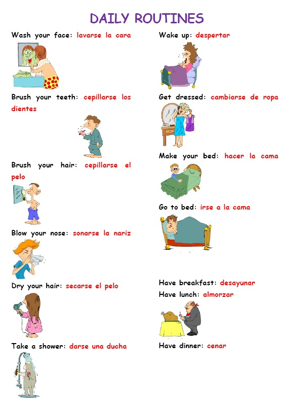 my daily routine essay in spanish Spanish daily routine project no description by anna holman on 8 december 2011 tweet comments (0) please log in to add your comment report abuse more.