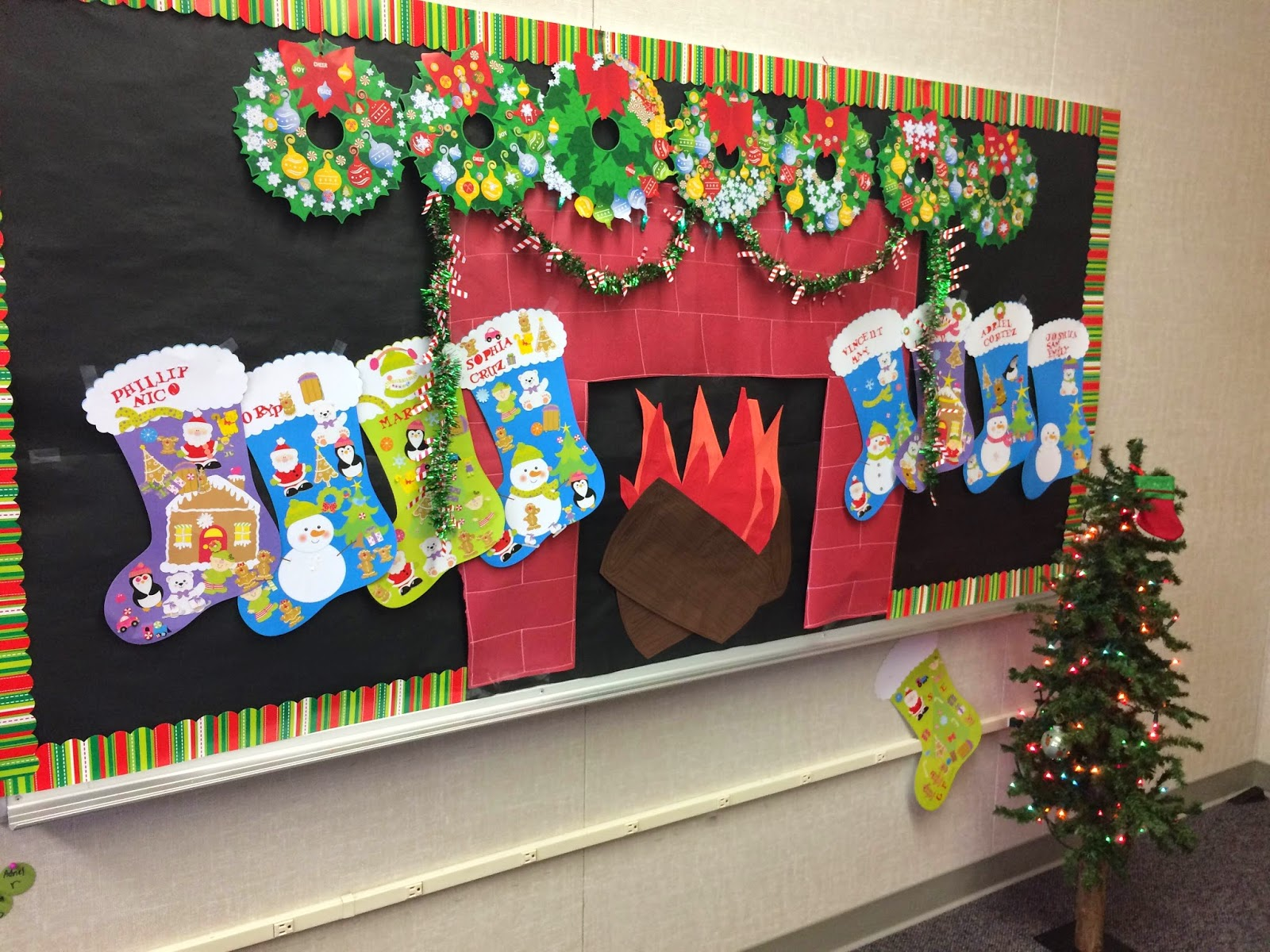 Classroom Wall Decorations For Christmas ~ The modern slp christmas in speech room