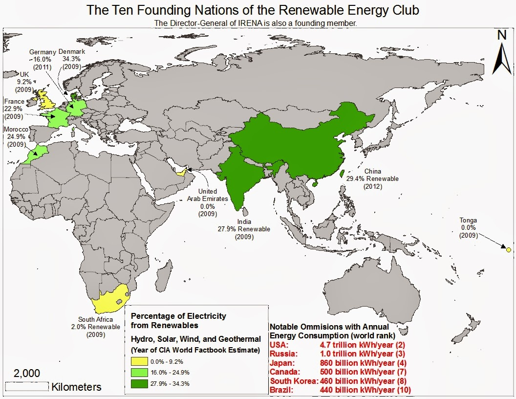 june 2013 ten nations and the director general of irena international renewable energy agency founded the renewable energy club