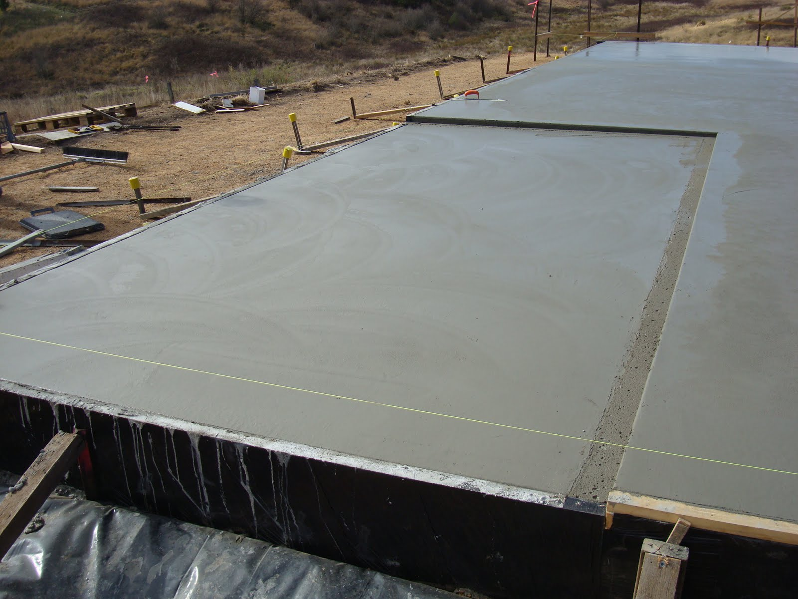 Waffle Pod Concrete Slab Pour Day Off Grid Home