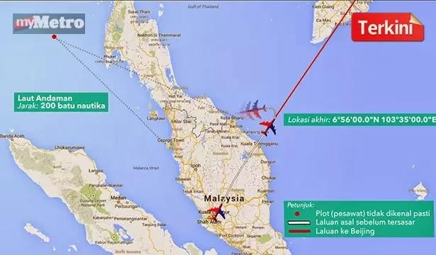 Pesawat misteri di Laut Andaman