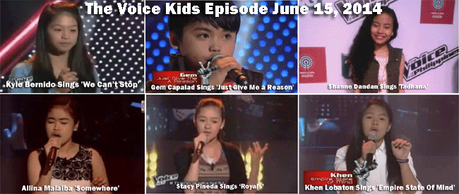 The Voice Kids Episode June 15, 2014