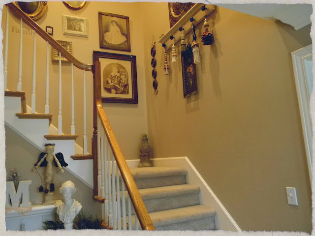 It Has Carpet, White Spindles And Oak Railing And Partial Oak Treads On The  Spindle Side. We Would Also Like To Change This But Thatu0027s Another DIY  Project.