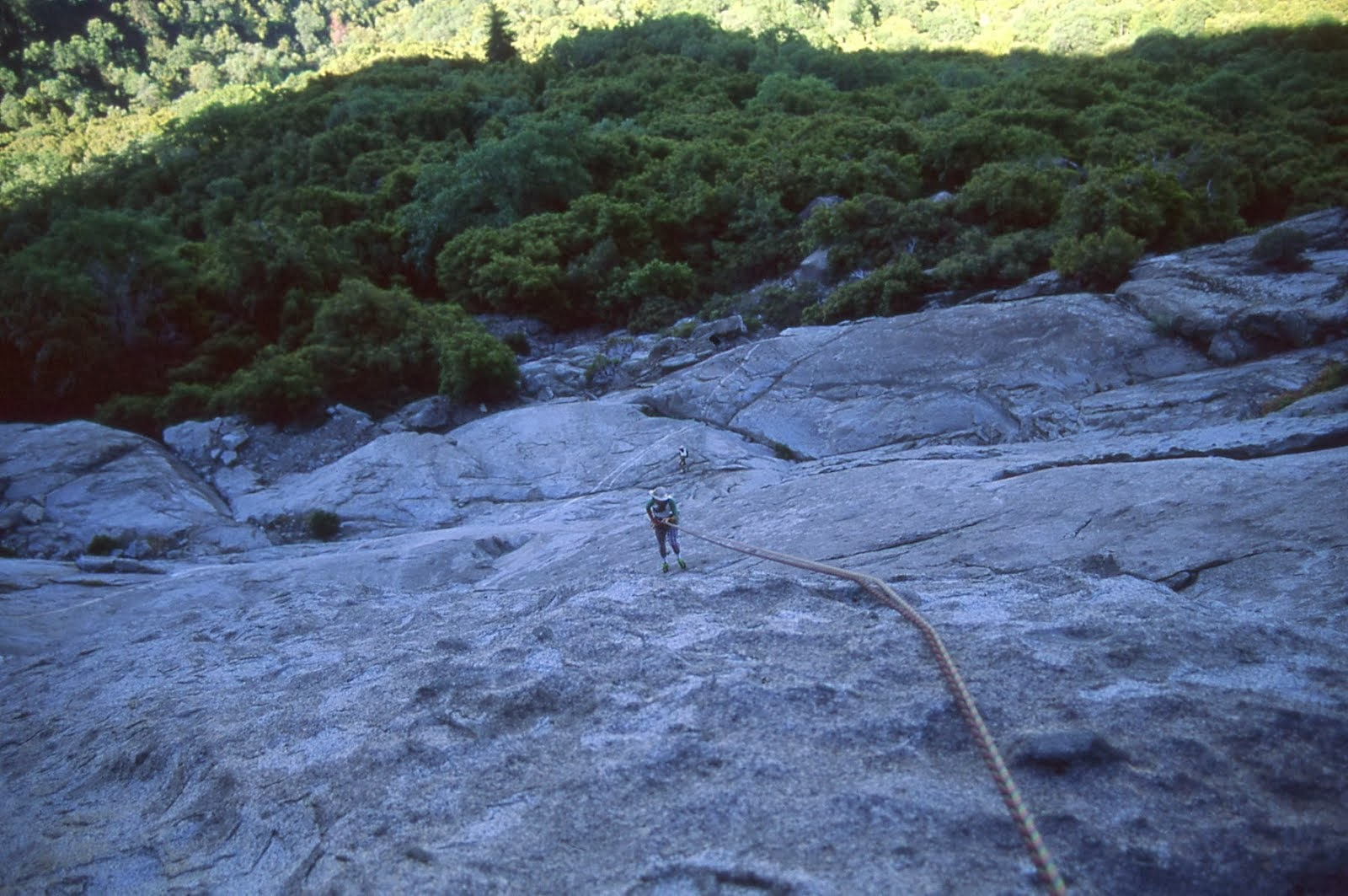 Rapping off of Condor Ledge