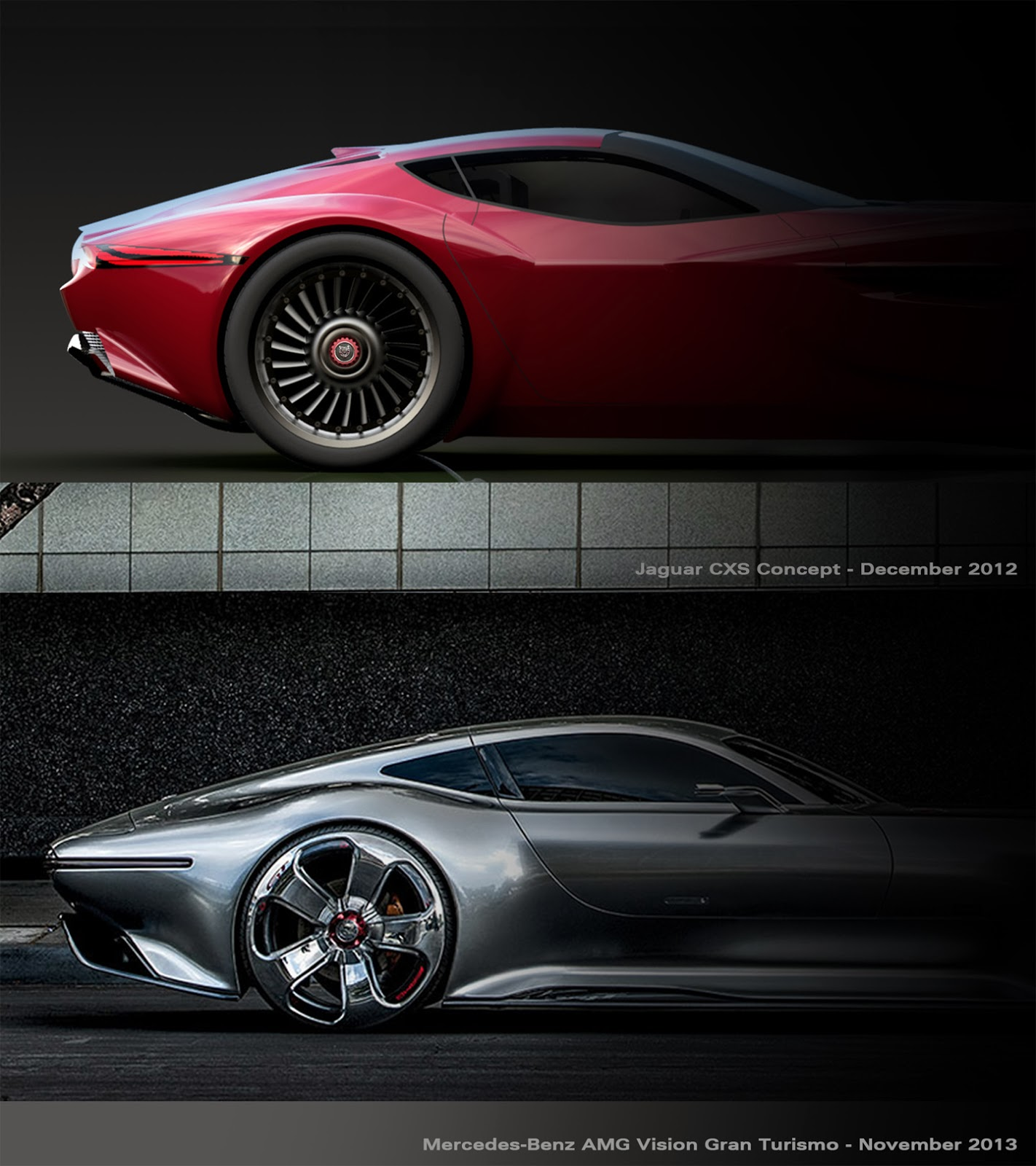 Jaguar cxs concept vs mercedes benz amg vision gran turismo for Mercedes benz amg vision