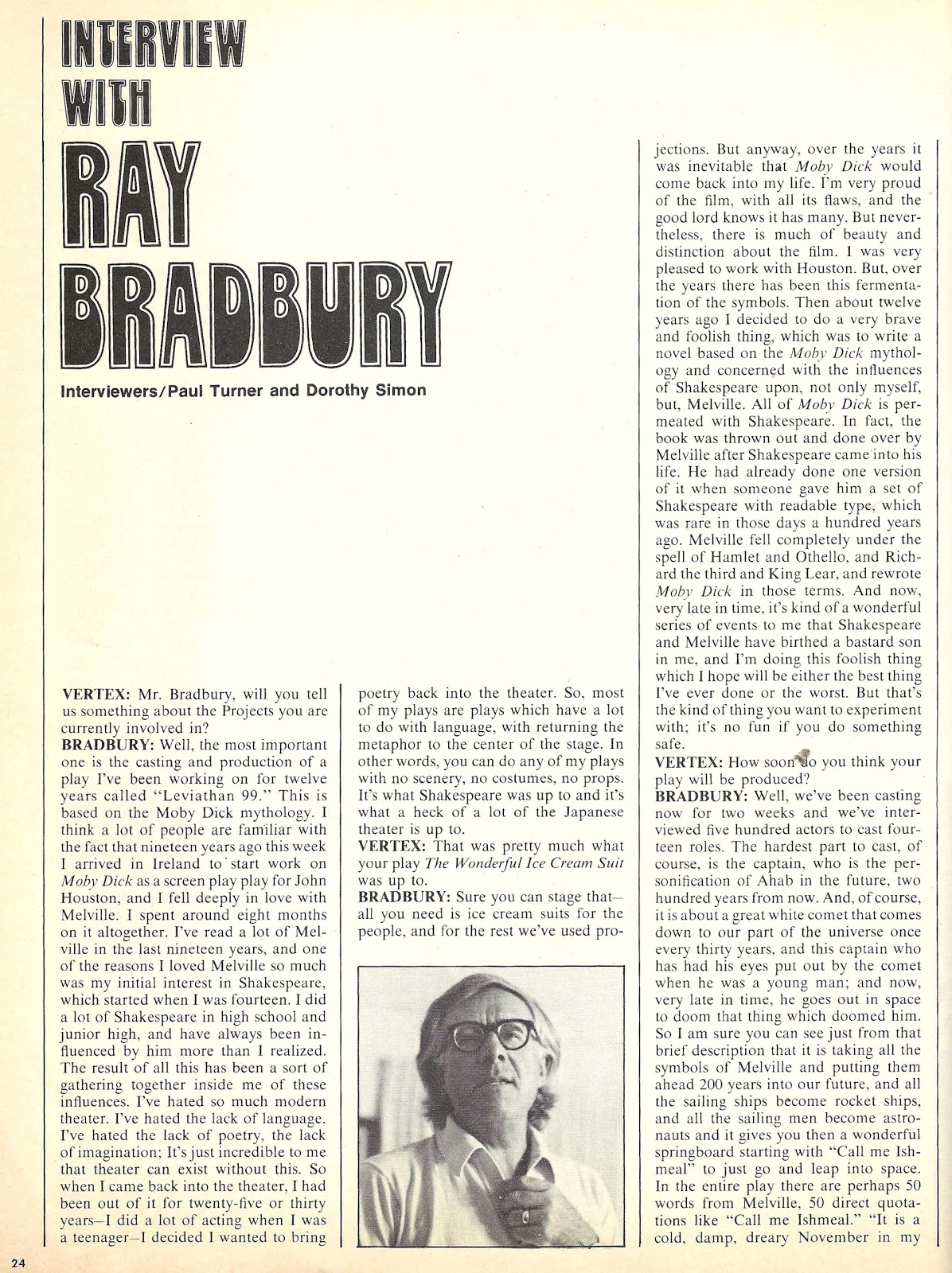 ray bradbury on writing By ray bradbury nea big read structural savvy is one more proof that bradbury started out writing for the pulps and wound up writing for the ages.
