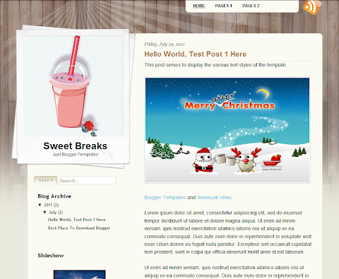 Sweet Breaks Blogger Theme