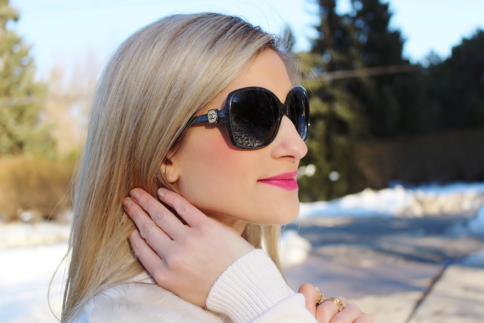 Calvin Klein, beauty, estee lauder, fashion blogger, doublewear,Chanel, sunglasses, foundation