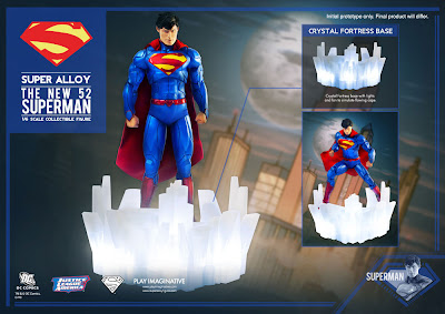 San Diego Comic-Con 2013 Exclusive Super Alloy 1/6 Scale New 52 Justice League Superman Action Figure by Play Imaginative