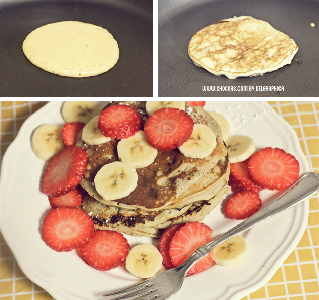 huevo banana pancakes