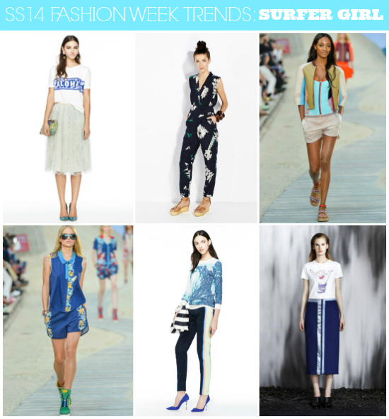 SS14 Runway Trends: Surfer Girl // Click here for more fashion week #trend coverage http://lapetitefashionista.blogspot.com/2013/09/ss14-runway-trends-recap.html