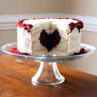 heart cake inside