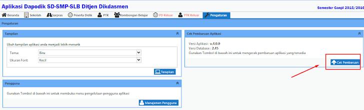 Cara Update Aplikasi Dapodikdas Versi 4.0.0 Menjadi Versi 4.0.1