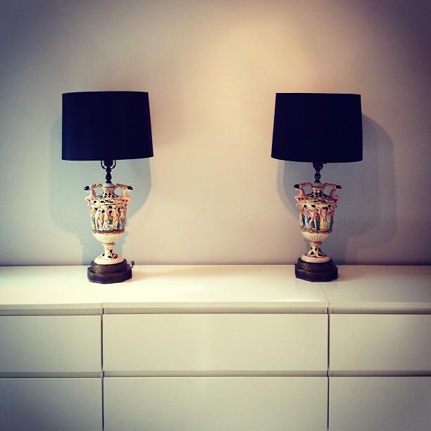 vintage capodimonte lamps